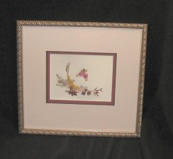 Marriage, double-matted, shadow box, silver finish wooden frame
