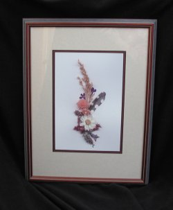 Millet Ascendant, double-matted, wooden frame